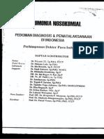 Diagnosis Dan Penatalaksanaan Pneumonia Nosokomial PDPI