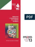 Sindicatos y Transparencia en la Ciudad de México. Arturo Alcalde Justiniani