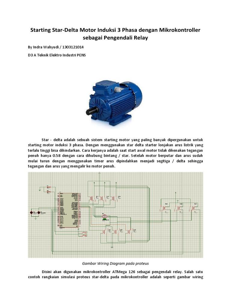 Starting Star Delta Motor Induksi Tiga Phasa Berbasis Wiring Diagram Of Starter With Timer Mikrokontroller Atmega128