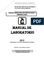 MANUAL de Histologia 2012