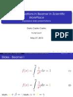 Ecuaciones en Color en Beamer