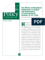 lehr 0707 the effects of broadband deployment on output and employment a cross-sectional analysi