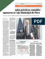 Pérdidas y Malas Prácticas Contables Lapidaron a La Caja Municipal de Pisco_El Comercio 22-05-2014