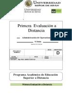 1ra Evaluación a Distancia 2013 I
