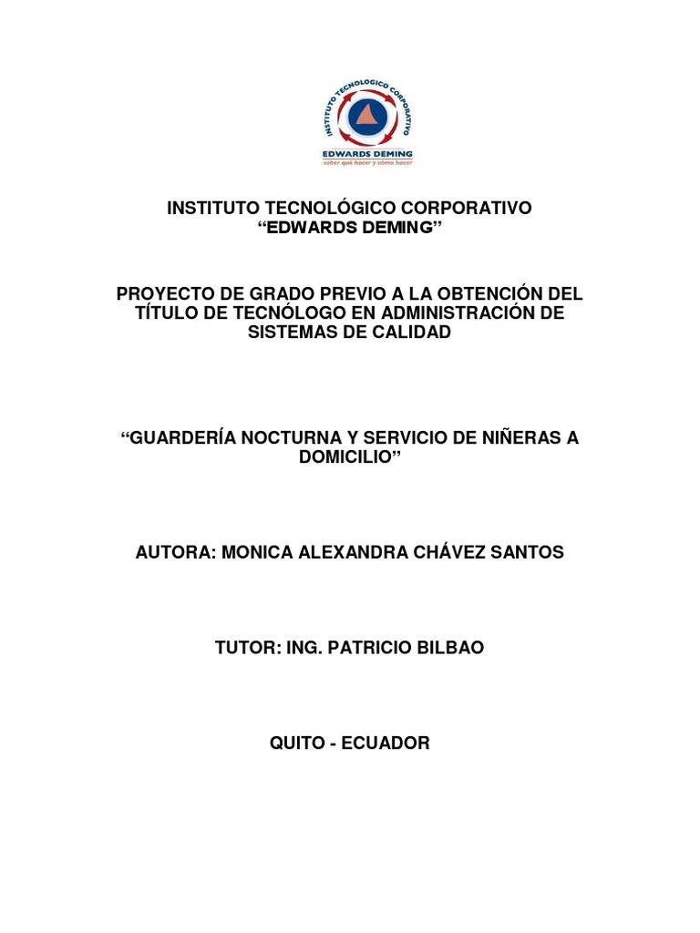 CREACION DE LA EMPRESA GUARDERIAS NOCTURNAS Y SERVICIO DE NIÑERAS A ...