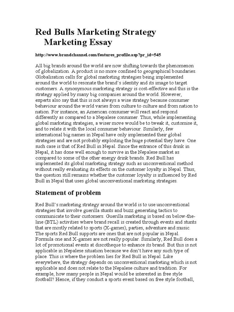 red bulls marketing strategy marketing essay  brand  marketing