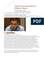 Pentagon Report Finds Snowden Leaks Had 'Staggering' Intelligence Impact