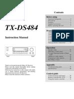 TX-ds484 Manual e