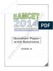 Eamcet 2014 Engineering Key Solutions