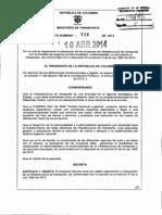 TR INTERMODAL Decreto 736 10 ABbril 2014 Planeaciom-proyectos-Infraestructura Transporte