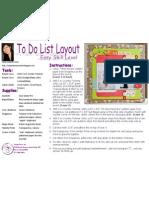 To Do List Layout by Liana Suwandi
