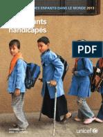 UNICEF Rapport Situation 2013 Handicap(1)