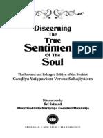 Discerning the True Sentiments of Soul