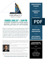 Fibonacci Lodge No.112 Constitution Ceremony Brochure