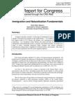 CRS - Immigration and Naturalization Fundamentals (May 23, 2003)
