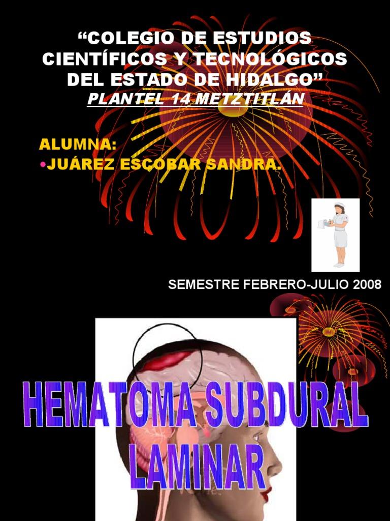 drenaje de hematoma subdural agudo