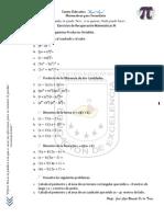 Ejercicios Matemáticas 3, Secundaria.