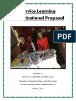 organizational proposal