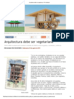 SIMON VELEZ, GUADUA. Arquitectura Debe Ser Vegetariana - El Colombiano