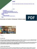 Doctorado en Gestión y Patrimonio Cultural (Semipresencial) _ Universitat de Barcelona