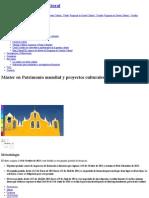 Máster en Patrimonio Mundial y Proyectos Culturales Para El Desarrollo _ Universitat de Barcelona Metodologia