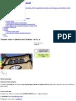 Máster Universitario en Gestión Cultural _ Universitat de Barcelona Preços