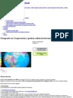 Postgrado en Cooperación y Gestión Cultural Internacional (Semipresencial) _ Universitat de Barcelona Preços