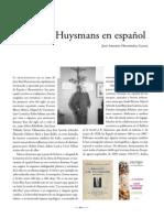Huysmans en Español