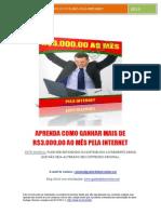 Como ganhar mais de R$3.000,00 por mes pela internet