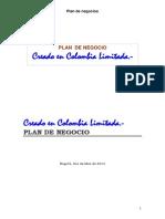 Modelo Plan de Negocios 2014