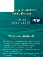 Abstract Writing Process