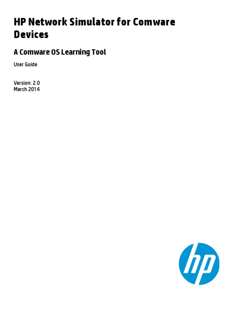 HP Network Simulator for Comware Devices User Guide v2.0