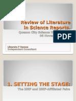 LFRamos - Review of Literature