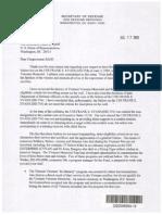 Panetta Signed Rep Schiff Letter - 17 Jul 12