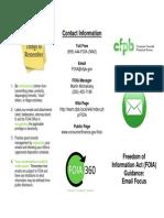 CFPB FOIA Email Focus 2013
