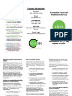 CFPB FOIA Insiders Guide 2013