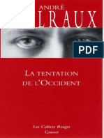 Malraux, André - La tentation de l'occident.epub