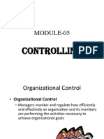 Module 05 Controlling
