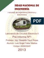 Pre- Informe N°2 de Laboratorio de Circuitos Electricos 2