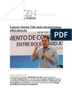 21-05-2014 Imagen Poblana - Lamenta Moreno Valle malas interpretaciones sobre nueva ley..