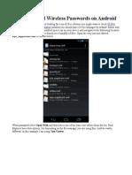 Retrieve Saved Wireless Passwords on Android