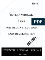 International Bank for Reconstruction and Development - Seventh Anual Report - 1951 - 1952