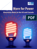 Paying More for Power - Electricity Rates in the US and Canada - May 2014