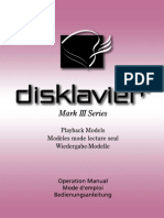 Disklavier Mark III Playback Models owner's manual (1 of 2)