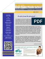 Mountain Ridge Middle School Newsletter