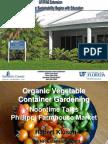 Organic Vegetable Container Gardening