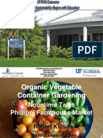 Organic Vegetable Container Gardening