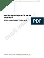 Tecnica Presupuestal Empresa 20219