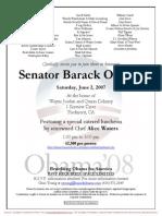 Fundraiser for Obama for America