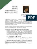 Elección de La Mesa Directiva Del Congreso